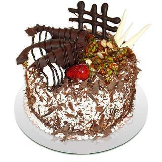 4 ile 6 kisilik çikolatali yas pasta  Manisa internetten çiçek satışı