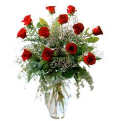 Vazo içerisinde 11 kirmizi gül  Manisa İnternetten çiçek siparişi