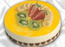 pasta gönderme 4 ile 6 kisilik yas pasta muzlu yaspasta  Manisa çiçek siparişi sitesi