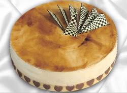 taze pasta 4 ile 6 kisilik yas pasta karamelli yaspasta  Manisa online çiçekçi , çiçek siparişi