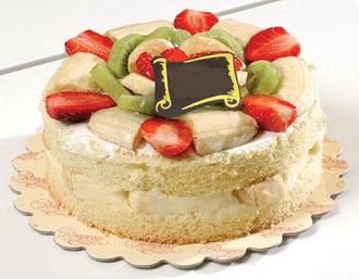 pasta siparisi 4 ile 6 kisilik karisik meyvali yas pasta  Manisa çiçekçi mağazası