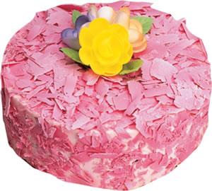 pasta siparisi 4 ile 6 kisilik framboazli yas pasta  Manisa uluslararası çiçek gönderme