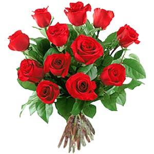 11 adet bakara kirmizi gül buketi  Manisa çiçekçiler