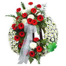 Cenaze çelengi cenaze çiçek modeli  Manisa çiçekçi telefonları