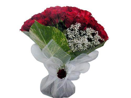 25 adet kirmizi gül görsel çiçek modeli  Manisa çiçekçi mağazası