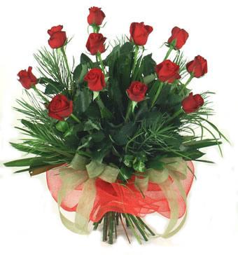 Çiçek yolla 12 adet kirmizi gül buketi  Manisa çiçekçiler