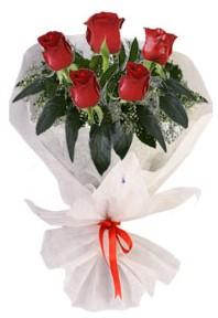 5 adet kirmizi gül buketi  Manisa online çiçekçi , çiçek siparişi