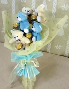 6 adet ayiciktan buket tanzimi  Manisa çiçek gönderme