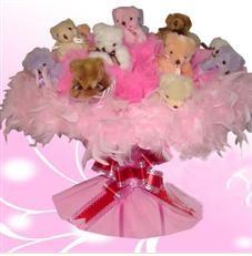 11 adet pelus ayicik buketi  Manisa hediye sevgilime hediye çiçek