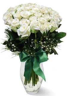 19 adet essiz kalitede beyaz gül  Manisa online çiçekçi , çiçek siparişi