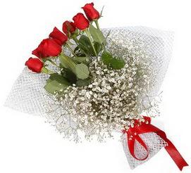 7 adet essiz kalitede kirmizi gül buketi  Manisa ucuz çiçek gönder