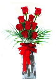 Manisa anneler günü çiçek yolla  9 adet mika yada cam vazoda gül tanzimi