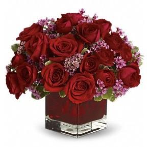 11 adet kırmızı gül vazosu  Manisa online çiçekçi , çiçek siparişi