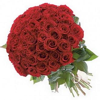 Manisa çiçekçiler  101 adet kırmızı gül buketi modeli