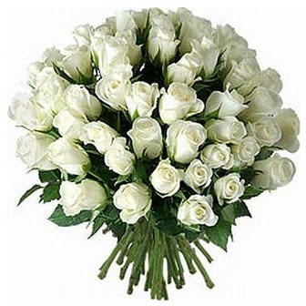 Manisa çiçekçi mağazası  33 adet beyaz gül buketi