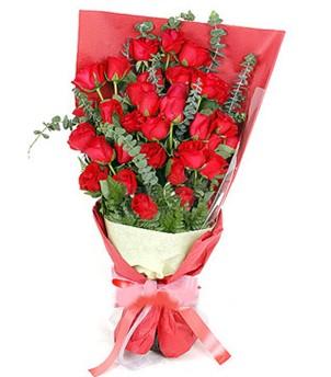 Manisa 14 şubat sevgililer günü çiçek  37 adet kırmızı güllerden buket