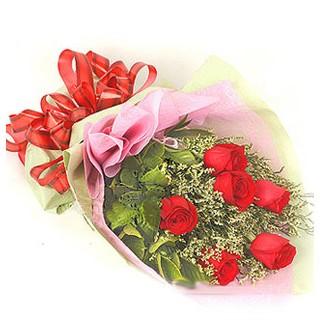 Manisa çiçek online çiçek siparişi  6 adet kırmızı gülden buket