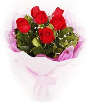 Manisa ucuz çiçek gönder  kırmızı 6 adet gülden buket