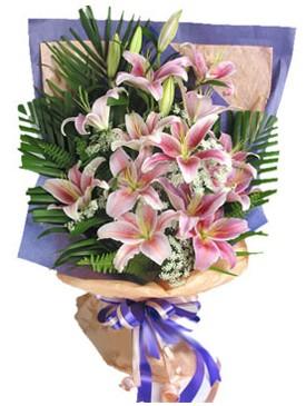 7 dal kazablankadan görsel buket  Manisa internetten çiçek satışı