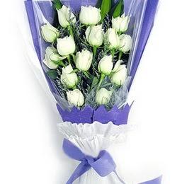 Manisa kaliteli taze ve ucuz çiçekler  11 adet beyaz gül buket modeli