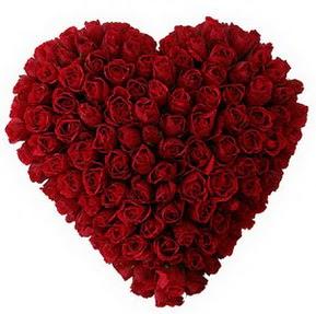 Manisa kaliteli taze ve ucuz çiçekler  muhteşem kırmızı güllerden kalp çiçeği