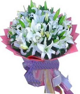 7 dal cazablanca görsel buketi  Manisa kaliteli taze ve ucuz çiçekler