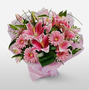 1 dal kazablanka ve kır çiçek görsel buketi  Manisa yurtiçi ve yurtdışı çiçek siparişi