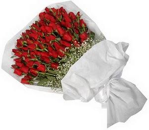 Manisa cicek , cicekci  51 adet kırmızı gül buket çiçeği