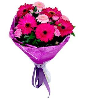 Manisa güvenli kaliteli hızlı çiçek  karışık gerbera çiçeği buketi