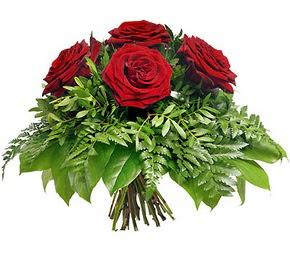 Manisa çiçek siparişi sitesi  5 adet kırmızı gülden buket