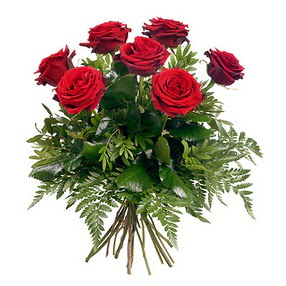 Manisa çiçek gönderme sitemiz güvenlidir  7 adet kırmızı gülden buket