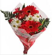 Mevsim çiçeklerinden görsel buket  Manisa online çiçekçi , çiçek siparişi
