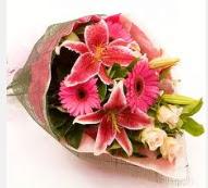1 dal kazablanka ve mevsim çiçekleri  Manisa çiçek yolla , çiçek gönder , çiçekçi