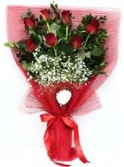 7 adet kırmızı gülden buket tanzimi  Manisa çiçek yolla