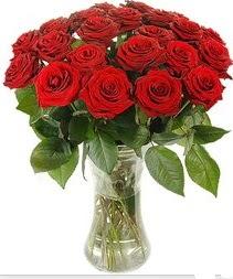 Manisa çiçek siparişi sitesi  Vazoda 15 adet kırmızı gül tanzimi