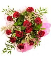 12 adet kırmızı gül buketi  Manisa çiçek satışı