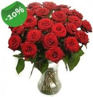 Vazo içerisinde 25 adet kırmızı gül  Manisa çiçek yolla