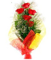 5 li kırmızı gül buketi  Manisa yurtiçi ve yurtdışı çiçek siparişi