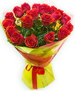 19 Adet kırmızı gül buketi  Manisa İnternetten çiçek siparişi