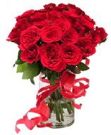 21 adet vazo içerisinde kırmızı gül  Manisa hediye sevgilime hediye çiçek