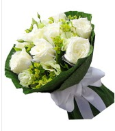 9 adet beyaz gül buketi  Manisa güvenli kaliteli hızlı çiçek