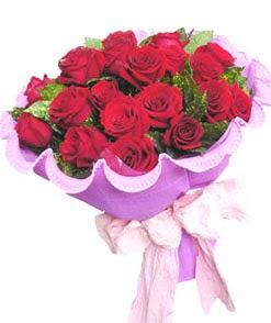 12 adet kırmızı gülden görsel buket  Manisa kaliteli taze ve ucuz çiçekler