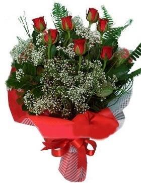 7 kırmızı gül buketi  Manisa çiçekçi mağazası
