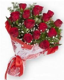 11 kırmızı gülden buket  Manisa çiçekçiler