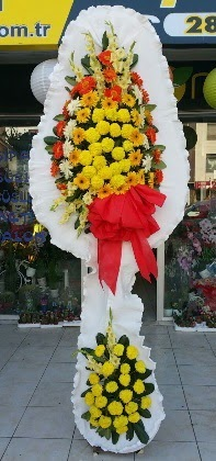 Çift katlı düğün nikah açılış çiçeği  Manisa çiçekçiler