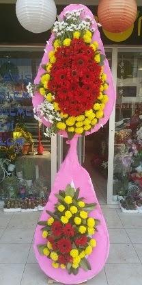 Çift katlı düğün nikah açılış çiçek modeli  Manisa online çiçekçi , çiçek siparişi