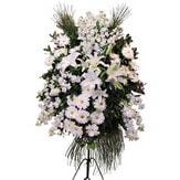 Manisa çiçek yolla  Ferforje beyaz renkli kazablanka