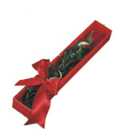 Manisa hediye çiçek yolla  tek kutu gül sade ve sik