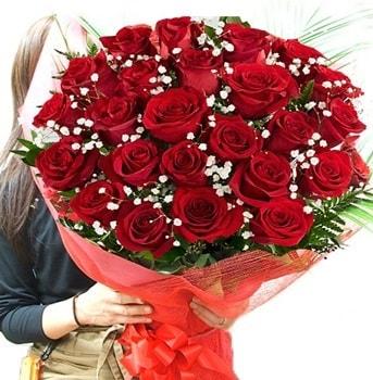 Kız isteme çiçeği buketi 33 adet kırmızı gül  Manisa cicekciler , cicek siparisi