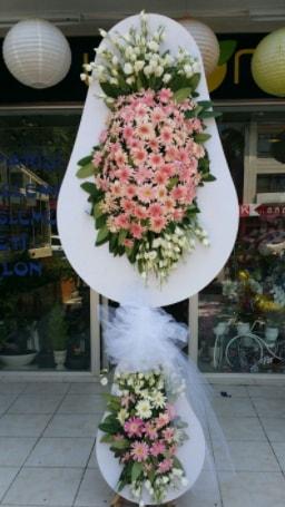 Çift katlı özel şahane sepet çiçeği  Manisa anneler günü çiçek yolla